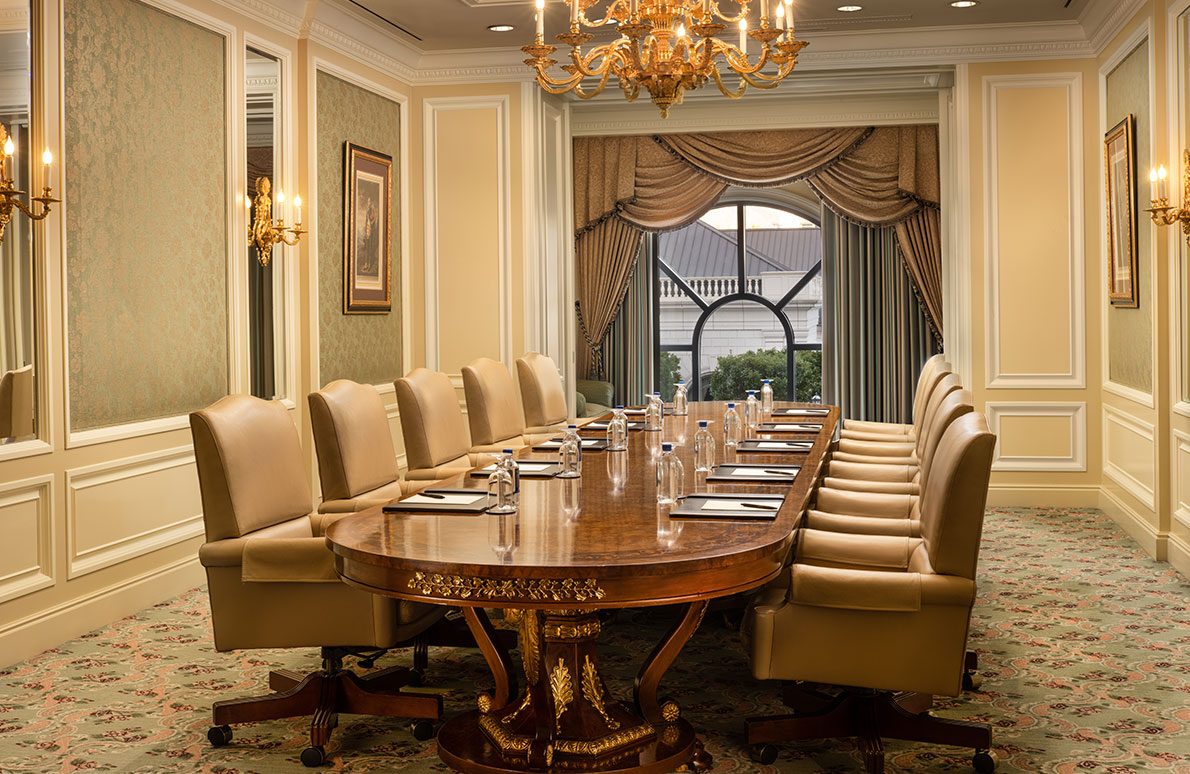 Ambassador Board Room at The Grand America on the Third Floor.